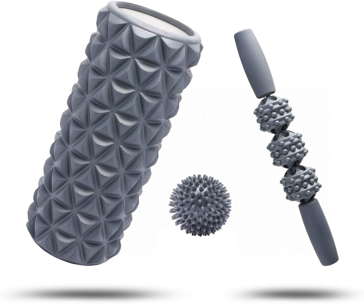 FitBeast Foam Roller Set 3 in 1 for Deep Tissue Muscle Roller, Massage Stick and Massage Ball