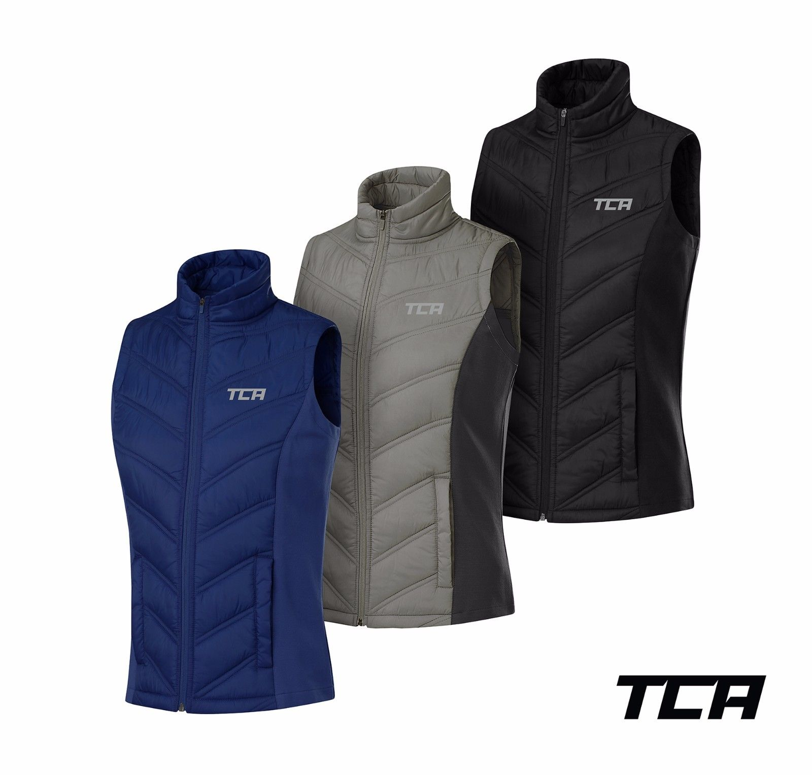 TCA Womens Excel Runner Lightweight Running Gilet Bodywarmer with Zip Pockets