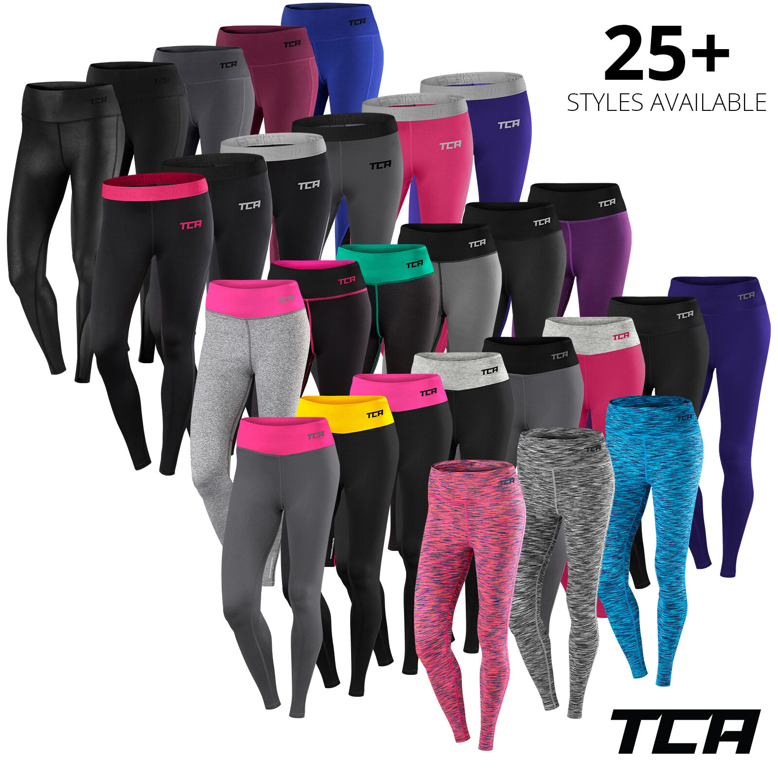 Womens TCA Workout Leggings Bottoms Running Gym Zumba Yoga Fitness