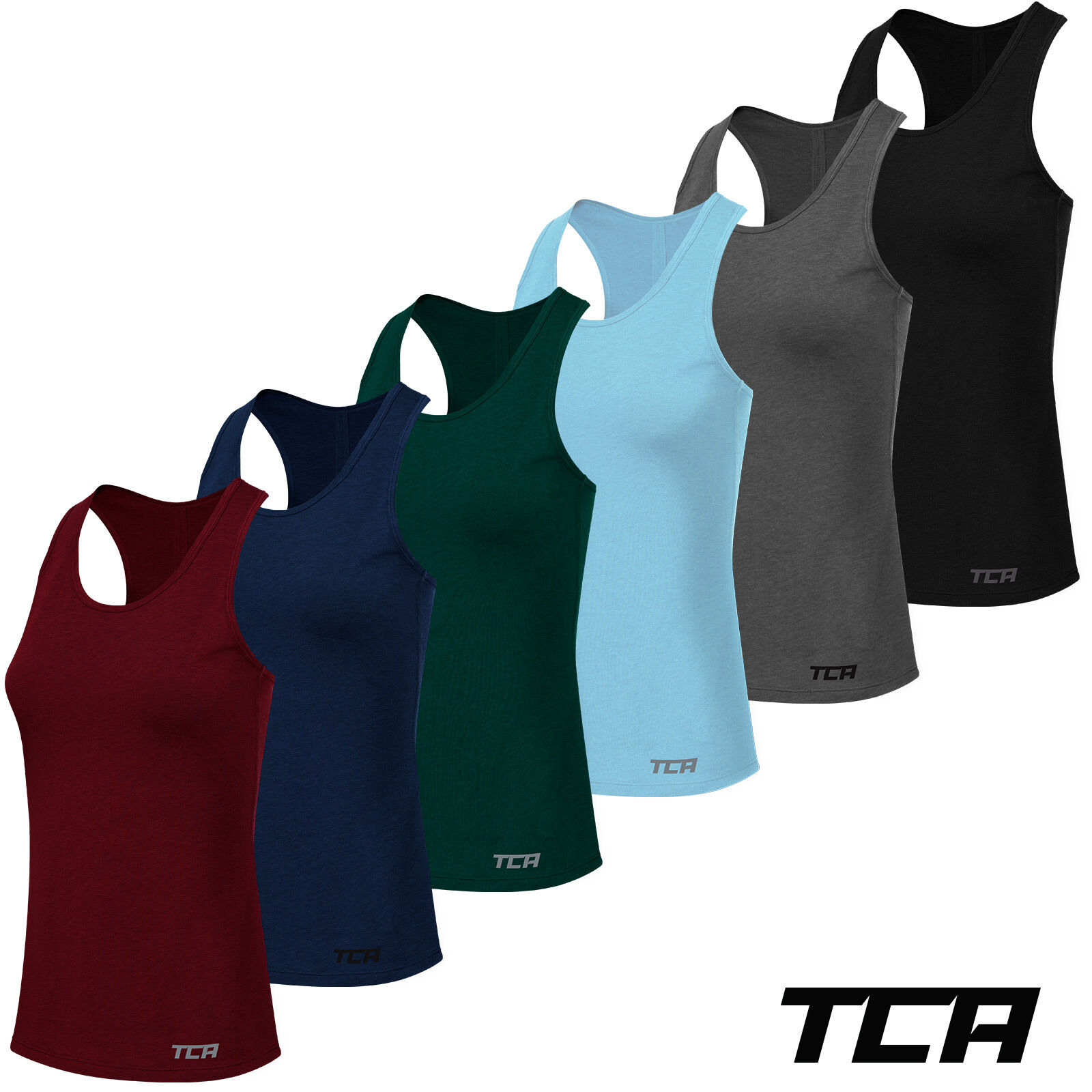 TCA Womens Natural Performance Running Gym Vest Tank Top