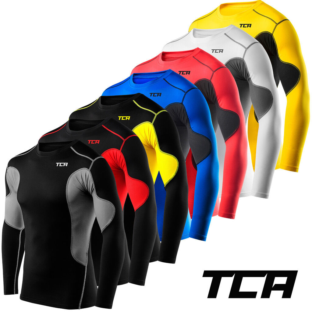 Mens TCA SuperThermal Compression Armour Base Layer Top Under Shirt Skins