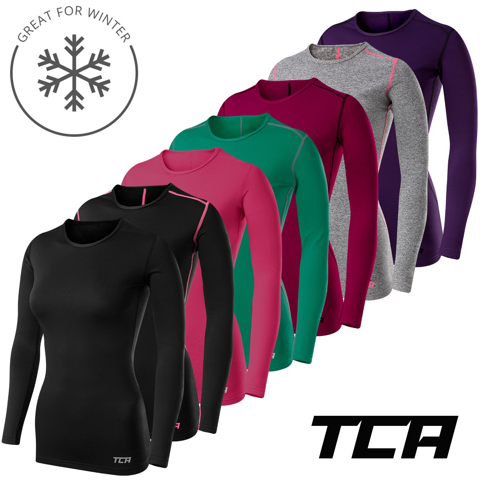 Womens TCA SuperThermal Long Sleeve Performance Base Layer Running Training Top