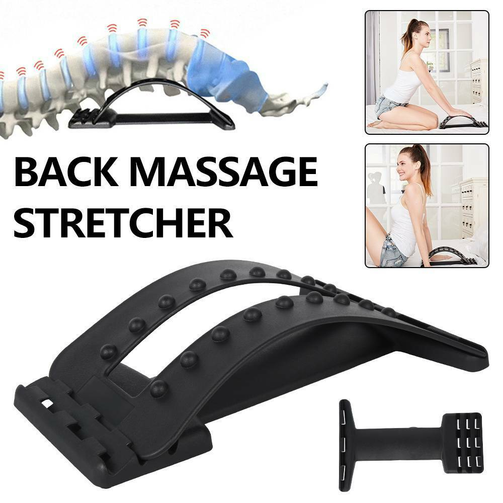Back Stretcher Lower Lumbar Pain Spine Massager Support Posture Relief