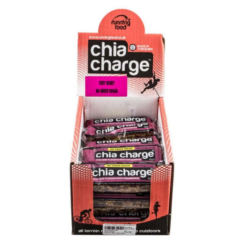 Chia Charge Flapjack Cranberry 20 x 80g