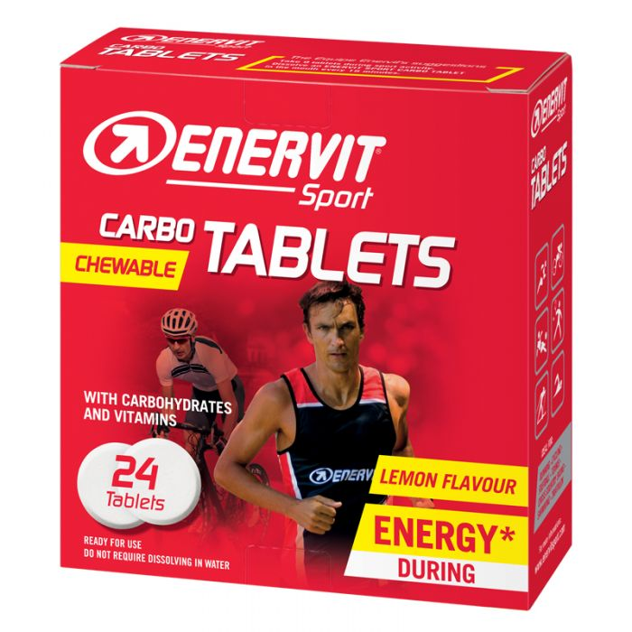 Enervit Sport Carbo Chewable Tablets x 24 Lemon