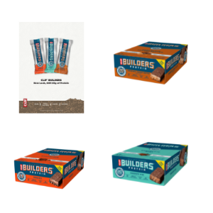 Clif Bar Builders Bar - Box of 12 x 68g