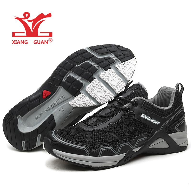 XG97003 Trail Running Shoes Black Sports Trainers