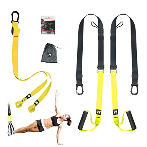 Rhinosport Sling Trainer Set with Door Anchor Adjustable Fitness Home Suspension