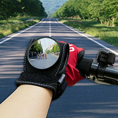Wide Angle Cycling Bicycle Bike Rear View Mirror Wrist