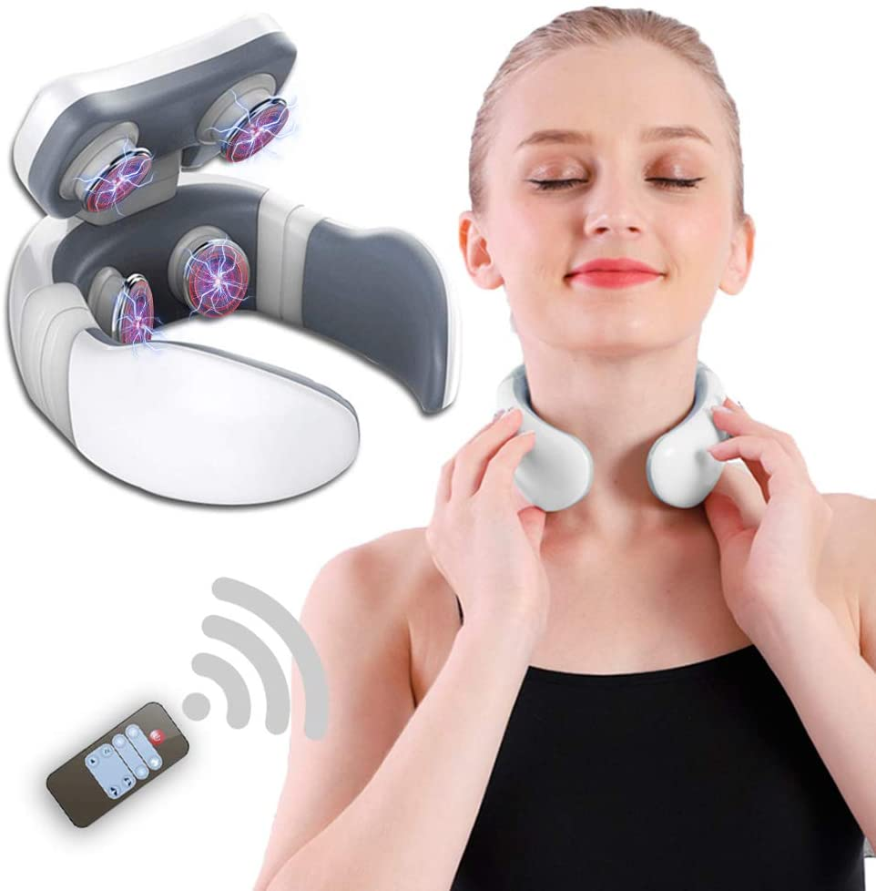 Electric Neck Back and Shoulder Massage Pulse Machine with Heat Function