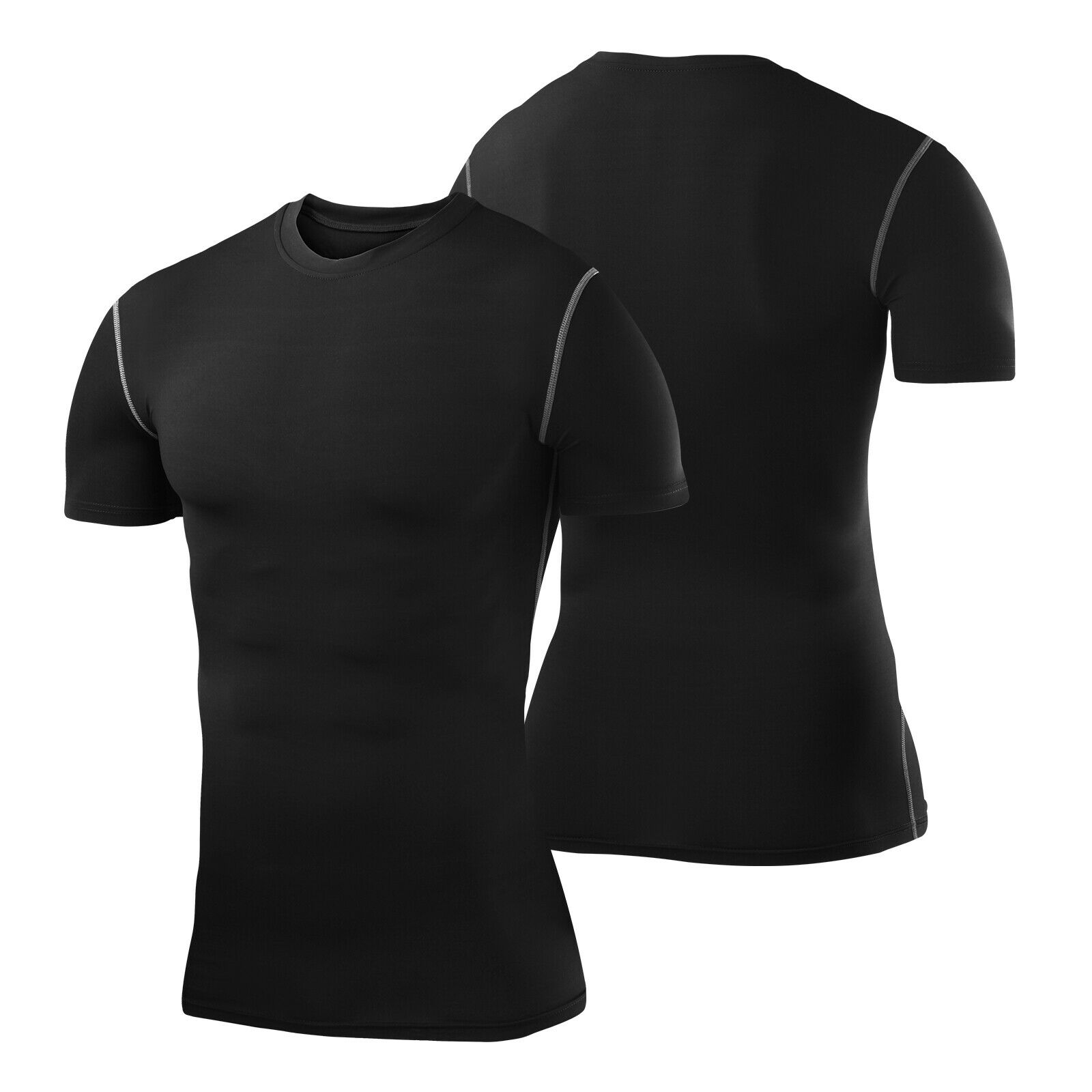 Best Mens Compression Armour Base Layer Short Sleeve Thermal Under Top