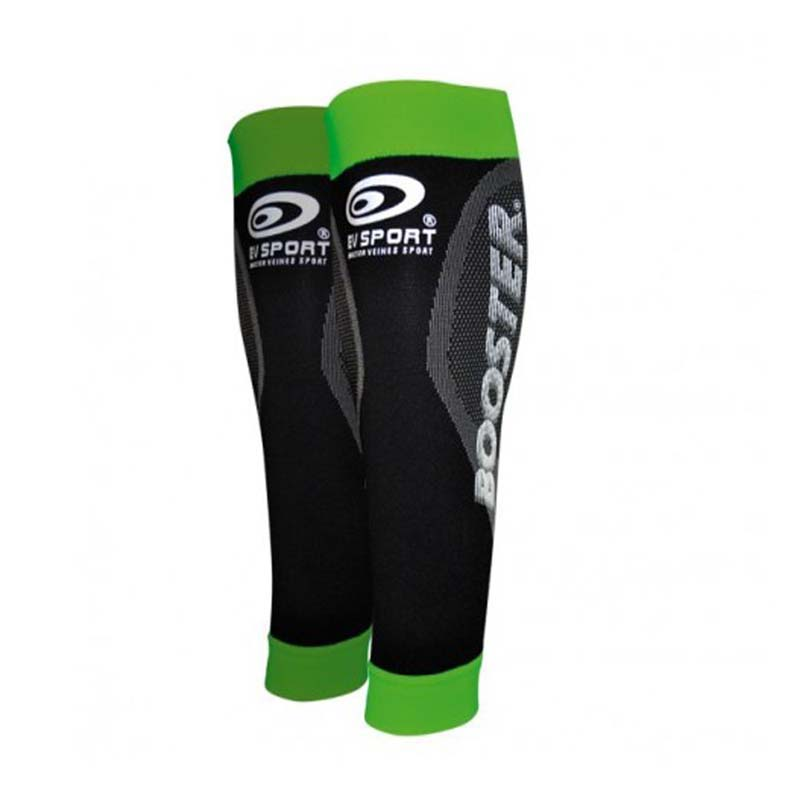 Booster Elite Calf Compression Sleeves Green Black