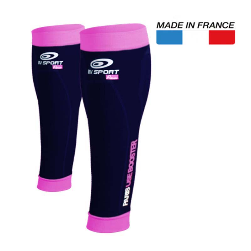 Booster Elite Calf Compression Sleeves Pink Black
