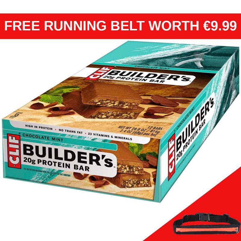 CLIF Builders Chocolate Mint Bar x 12 RB