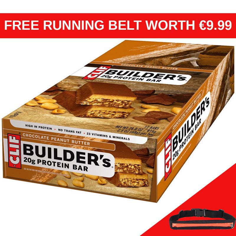 CLIF Builders Peanut Butter Bar x 12 RB