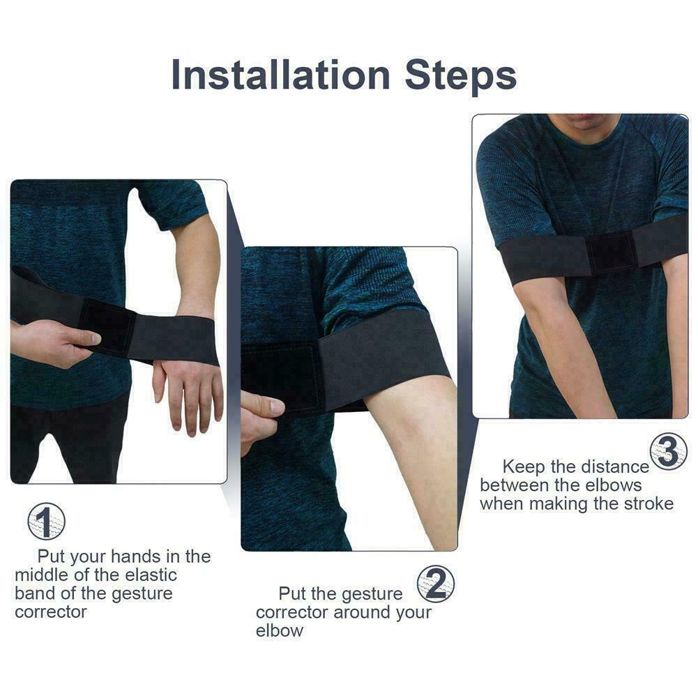 Best Golf Swing Arm Band Training Aid Strap Motion Correction Belt