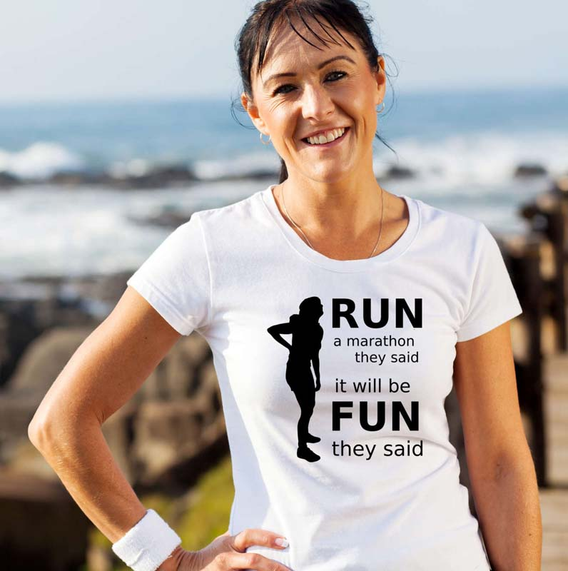 Run a Marathon T Shirt