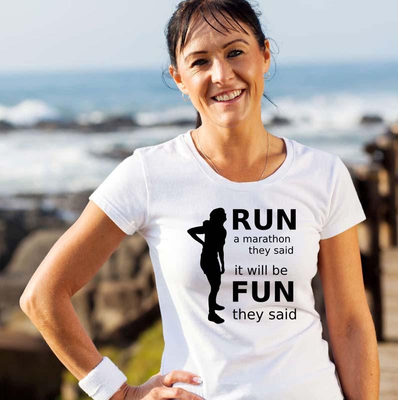 Run a Marathon T Shirt