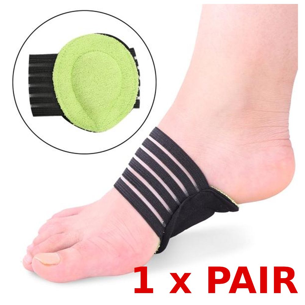 1 x Pair Plantar Cushion Fasciitis Aid Fallen Arches Heel Pain Relief