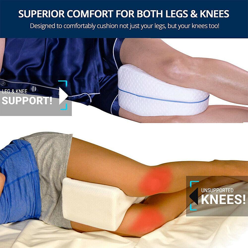 Best Orthopedic Contour Leg Pillow for Back Hip Legs Knee Support