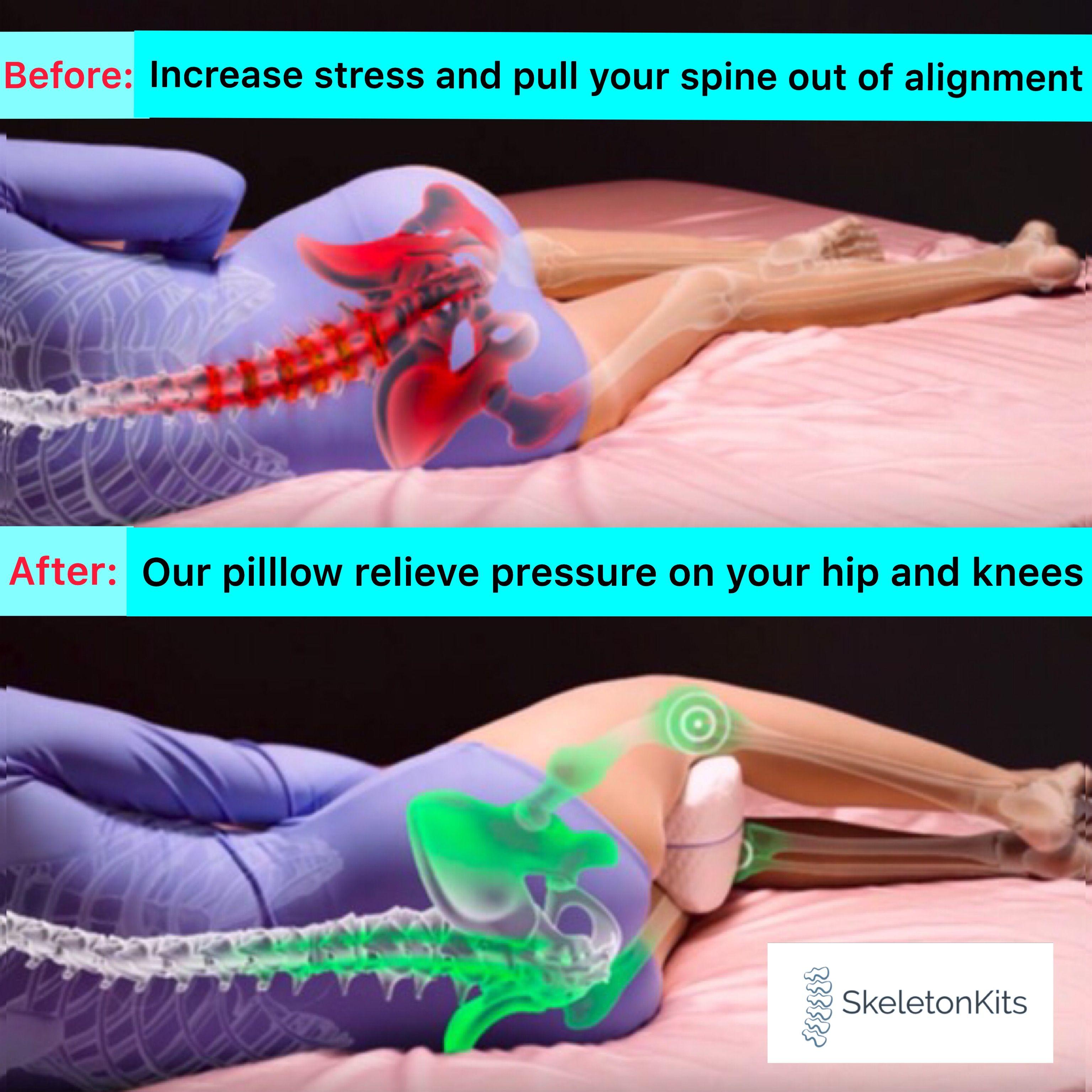 Best Memory Foam Contour Leg Hip Pillow Support