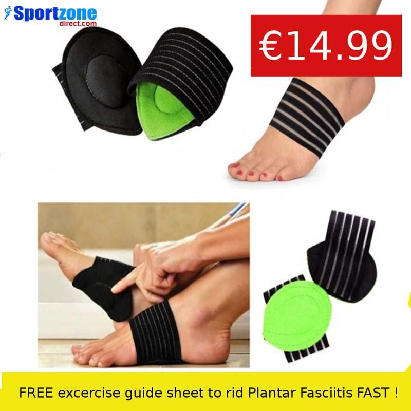 1 x Pair Plantar Cushion Fasciitis Aid Fallen Arches Heel Pain Relief
