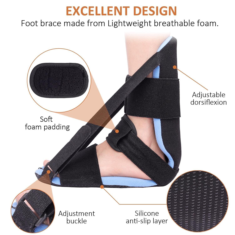 Plantar Fasciitis Night Splint Adjustable Foot Brace Reviews