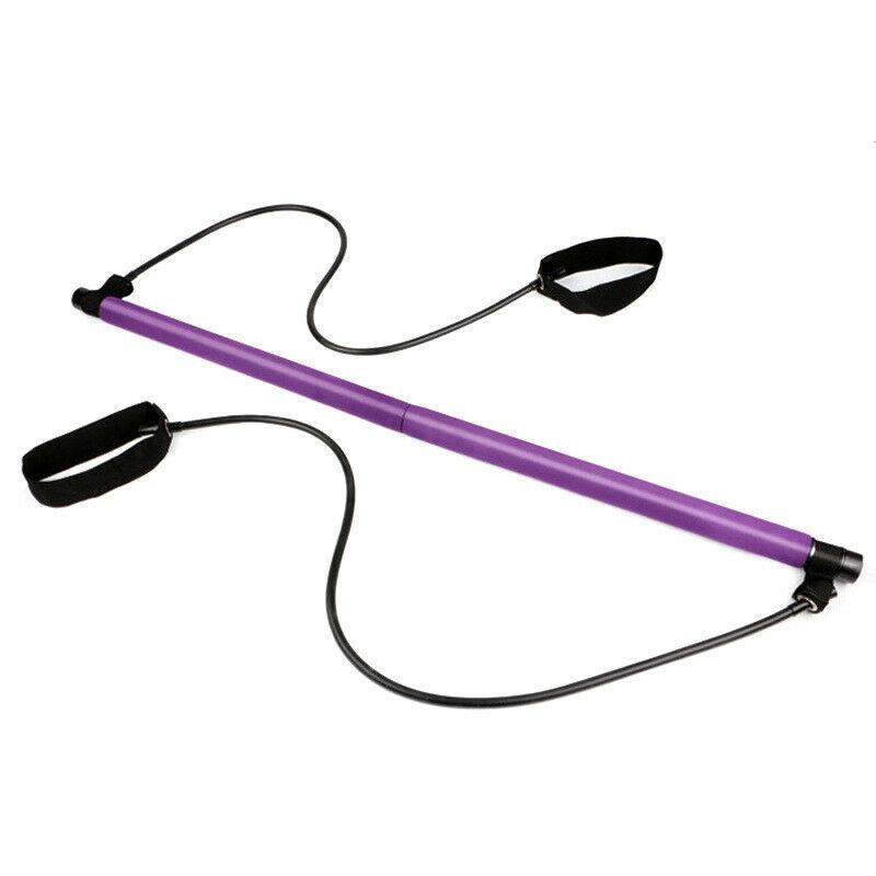 Buy Portable Pilates Bar Kit Adjustable Exercise Stick with Resistance Band Ireland