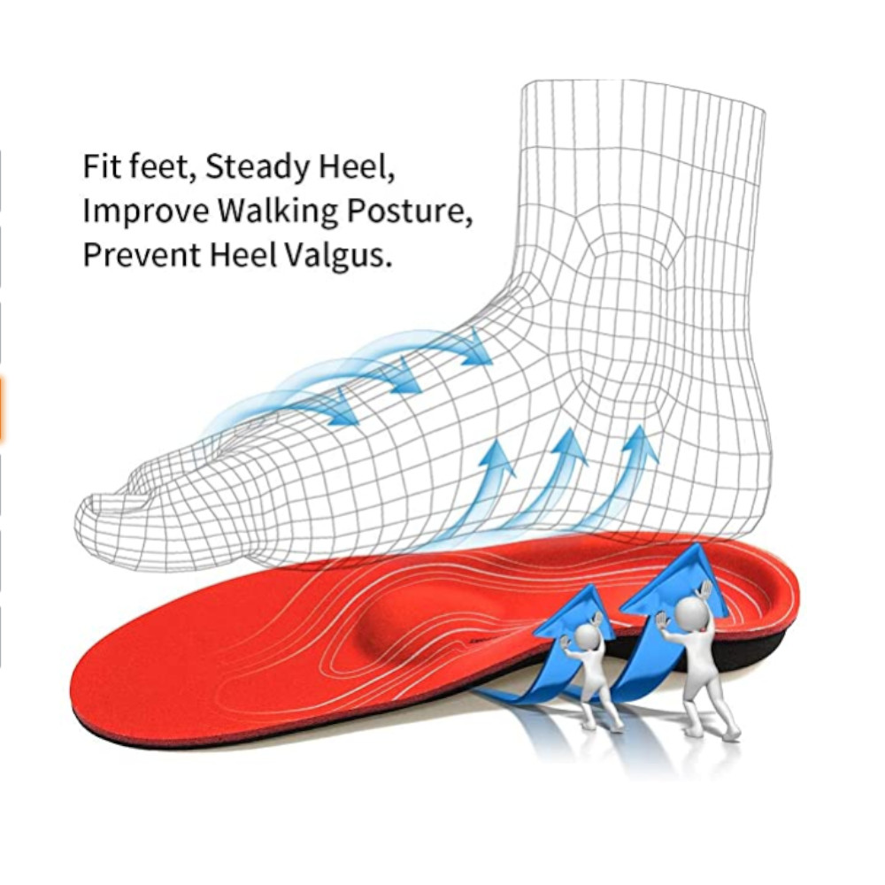 Orthotic Insole High Arch Foot Support Medical Functional Insoles Ireland