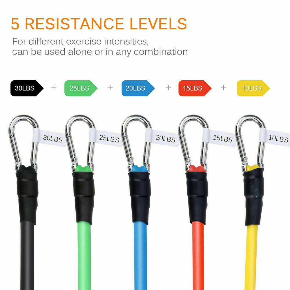 Buy 11 Piece Exercise Crossfit Fitness Set Resistance Bands Training  Ireland