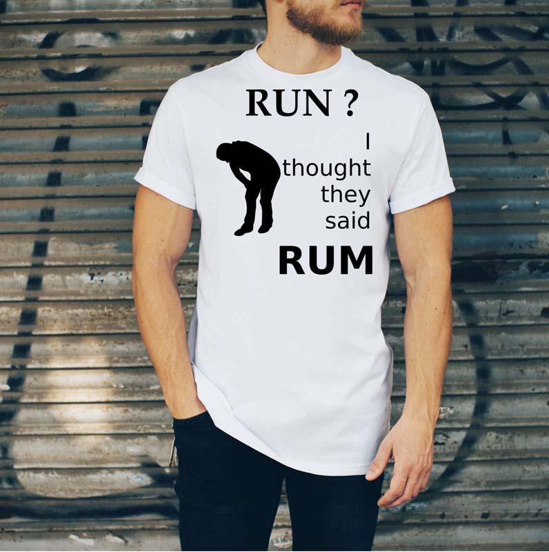 Rum T Shirt Mens White
